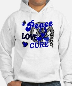 Peace Love Cure 2 Anal Cancer Hoodie