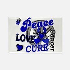 Peace Love Cure 2 Anal Cancer Rectangle Magnet