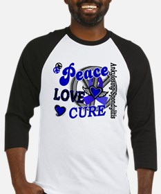 Peace Love Cure 2 AS Baseball Jersey
