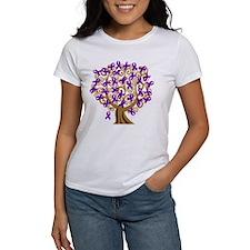 Purple Ribbon Awareness Tree Tee