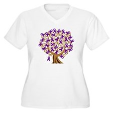 Purple Ribbon Awareness Tree T-Shirt