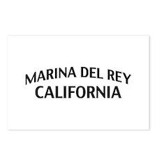 Marina del Rey California Postcards (Package of 8)