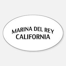 Marina del Rey California Sticker (Oval)