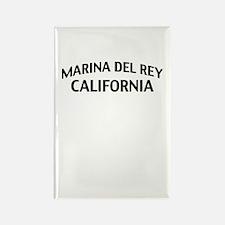 Marina del Rey California Rectangle Magnet