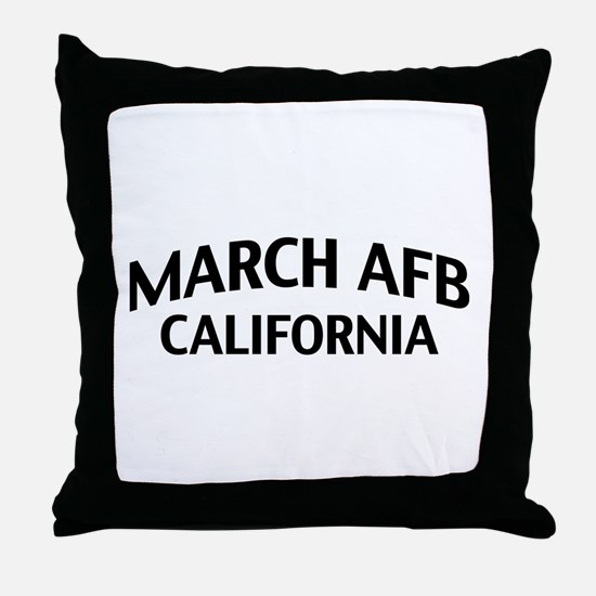 March AFB California Throw Pillow