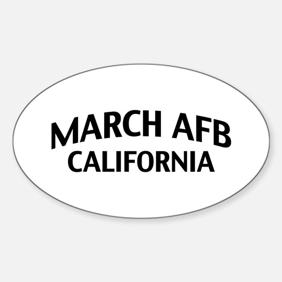 March AFB California Sticker (Oval)