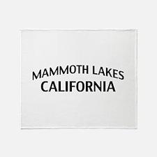 Mammoth Lakes California Throw Blanket