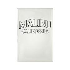 Malibu California Rectangle Magnet