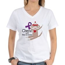 Purple Ribbon Chemo Sock Monkey Shirt
