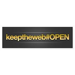 Keep The Web OPEN Bumper Sticker