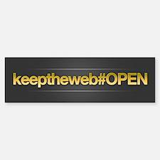 Keep The Web OPEN Bumper Bumper Sticker