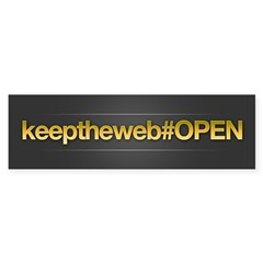Keep The Web OPEN Bumper Sticker