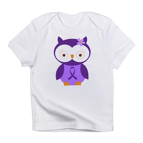 Purple Ribbon Awareness Owl Infant T-Shirt