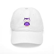Purple Ribbon Awareness Owl Baseball Cap