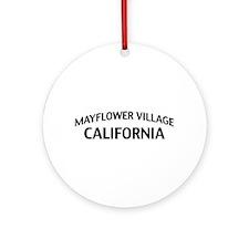 Mayflower Village California Ornament (Round)