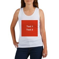 Red with Bold Custom Text. Women's Tank Top