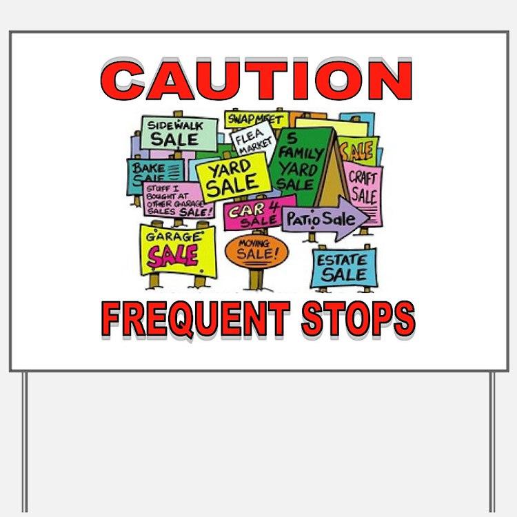 STOP THE CAR Yard Sign