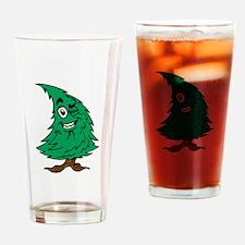 Cartoon Christmas Tree Drinking Glass