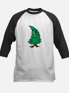 Cartoon Christmas Tree Kids Baseball Jersey
