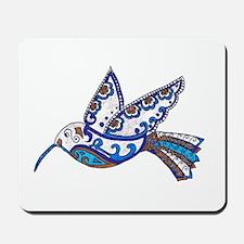 Hummingbird-Slate and Blue Mousepad