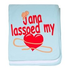 Jana Lassoed My Heart baby blanket