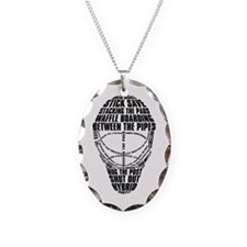 Hockey Goalie Mask Text Necklace
