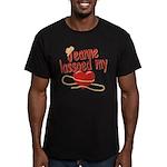 Jeanne Lassoed My Heart Men's Fitted T-Shirt (dark