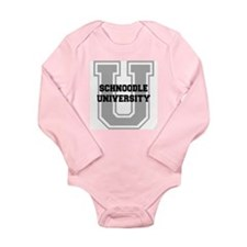 Schnoodle UNIVERSITY Long Sleeve Infant Bodysuit