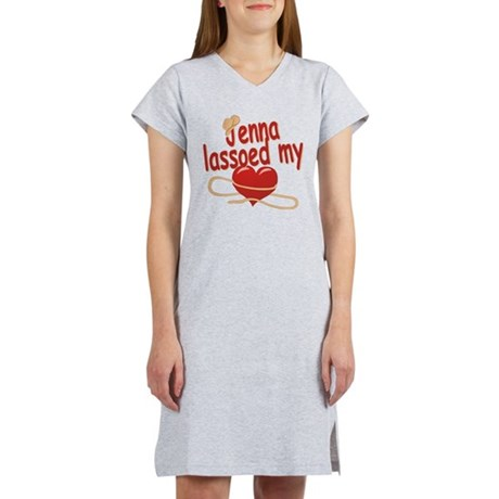 Jenna Lassoed My Heart Women's Nightshirt