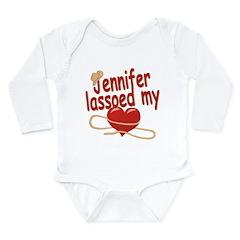 Jennifer Lassoed My Heart Long Sleeve Infant Bodys