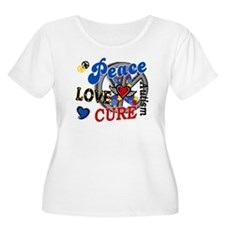 Peace Love Cure 2 Autism Shirts Gifts T-Shirt