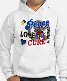 Peace Love Cure 2 Autism Shirts Gifts Hoodie