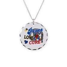Peace Love Cure 2 Autism Shirts Gifts Necklace