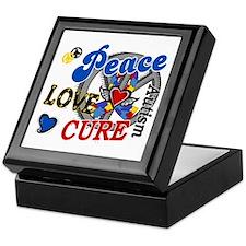 Peace Love Cure 2 Autism Shirts Gifts Keepsake Box