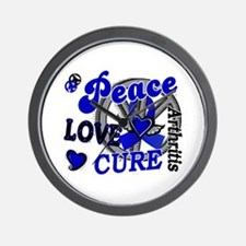 Peace Love Cure 2 Arthritis Shirts Gifts Wall Cloc