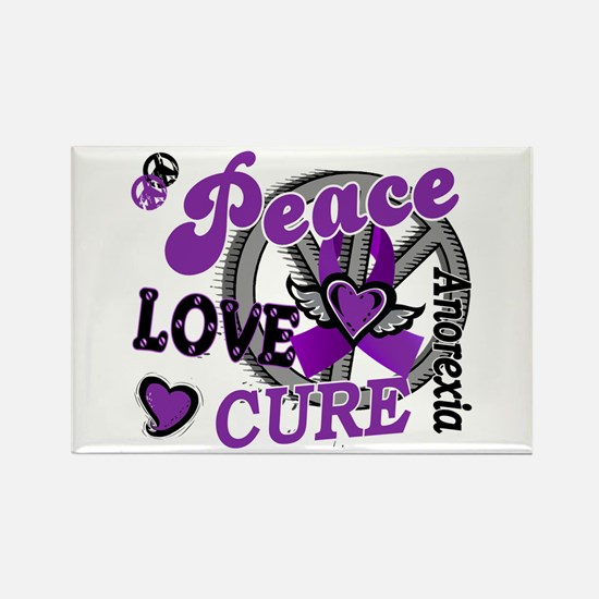 Peace Love Cure 2 Anorexia Shirts Gifts Rectangle
