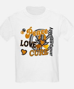 Peace Love Cure 2 Appendix Cancer Shirts Gifts Kid