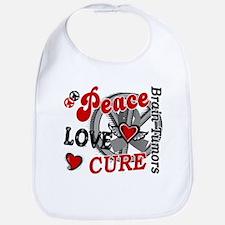 Peace Love Cure 2 Brain Tumor Shirts Gifts Bib