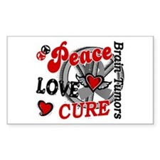 Peace Love Cure 2 Brain Tumor Shirts Gifts Decal