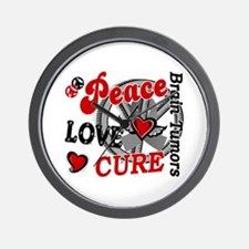 Peace Love Cure 2 Brain Tumor Shirts Gifts Wall Cl