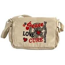 Peace Love Cure 2 Brain Tumor Shirts Gifts Messeng
