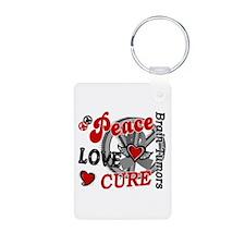 Peace Love Cure 2 Brain Tumor Shirts Gifts Aluminu