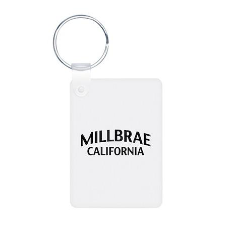 Millbrae California Aluminum Photo Keychain
