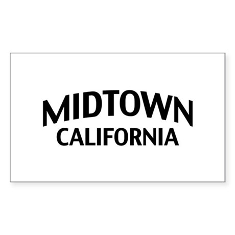 Midtown California Sticker (Rectangle)