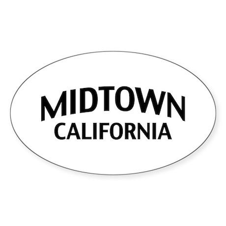 Midtown California Sticker (Oval)
