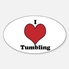I Love Tumbling Sticker (Oval)