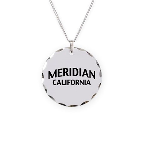 Meridian California Necklace Circle Charm