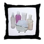 Lotion Cream Scrubber Tub Throw Pillow
