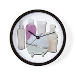 Lotion Cream Scrubber Tub Wall Clock
