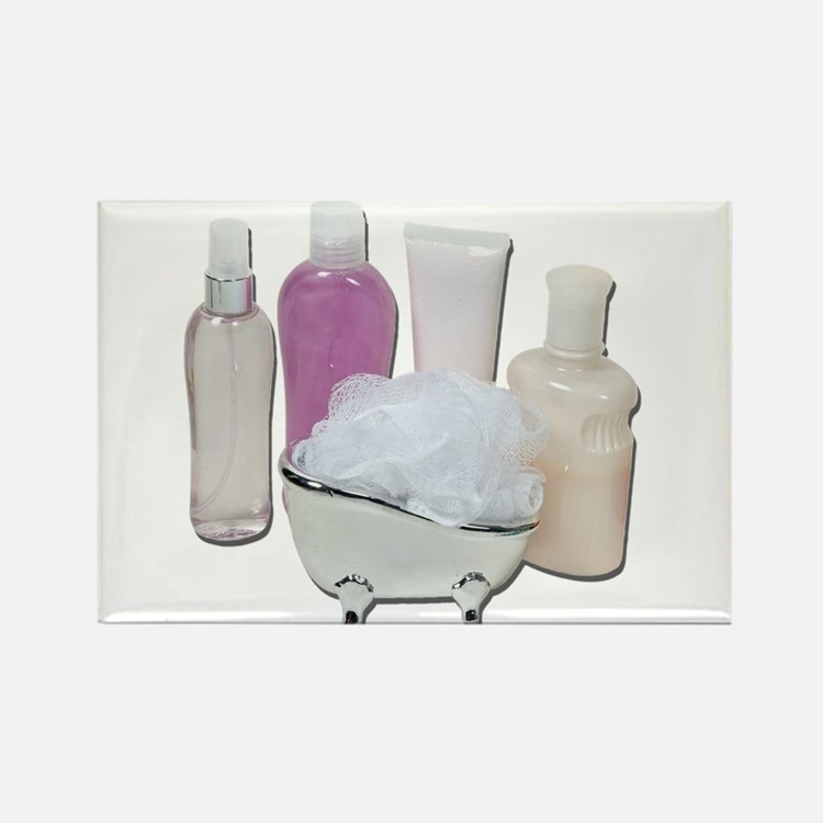 Lotion Cream Scrubber Tub Rectangle Magnet